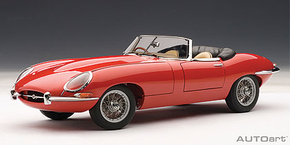 Jaguar, E, Type, Roadster, Series, I, 3.8, Red, With, Metal, Wire, Spoke, Wheels, Miniature, Diecast, Scale, Model, Cars, India, Automania