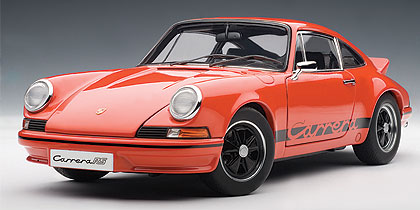 Porsche, 911, Carrera, Rs, 2.7, 1973, Orange, W, Black, Stripes, Miniature, Diecast, Scale, Model, Cars, India, Automania